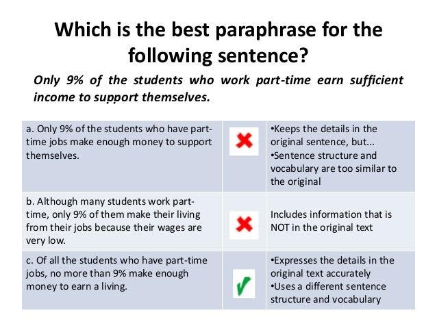 Paraphrasing, Summarizing, and Quoting Information