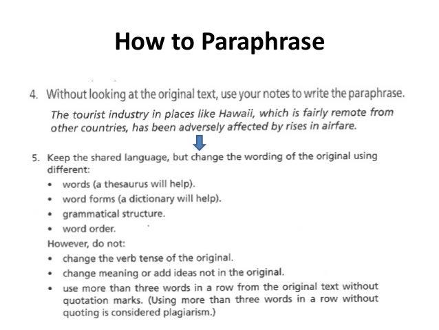 ways to paraphrase