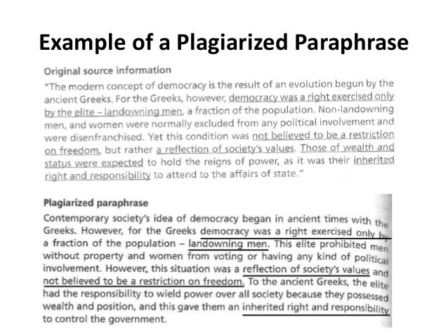 Paraphrasing, Summarizing, and Quoting Information