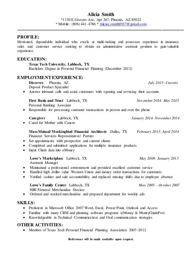 Paraplanner Cover Letter