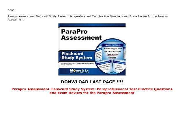 Parapro Assessment Flashcard Study System: Paraprofessional