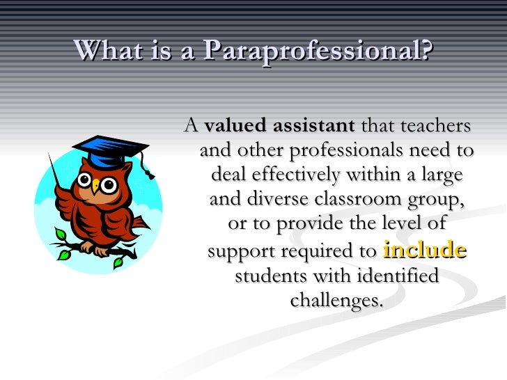 Paraprofessional