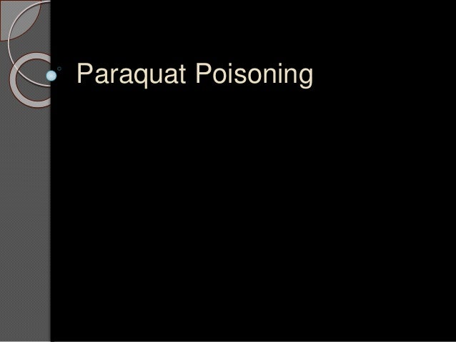 Paraquat Poisoning