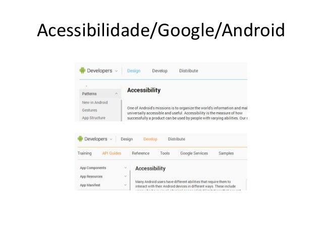 Acessibilidade/Google/Android