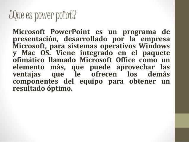 para que se utiliza power point
