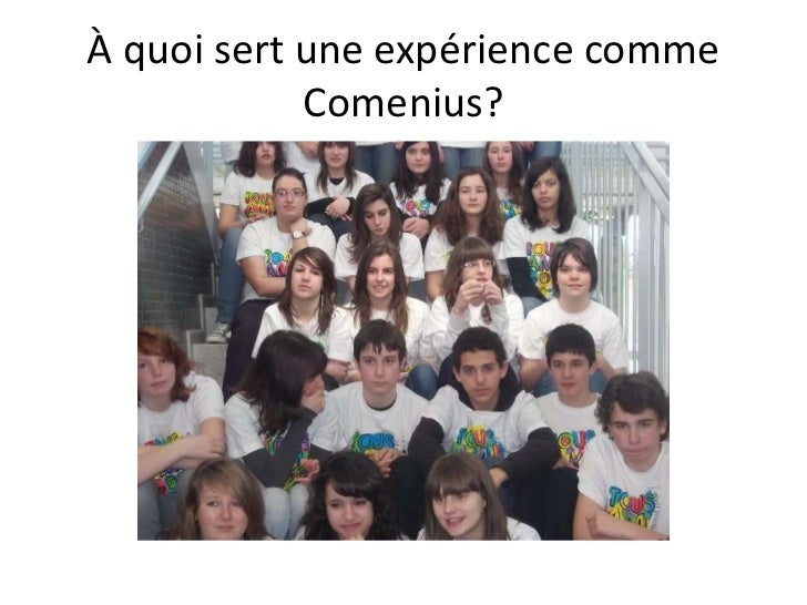 À quoisert une expériencecommeComenius?<br />