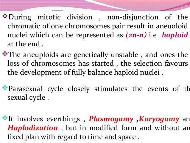 Define parasexual cycle