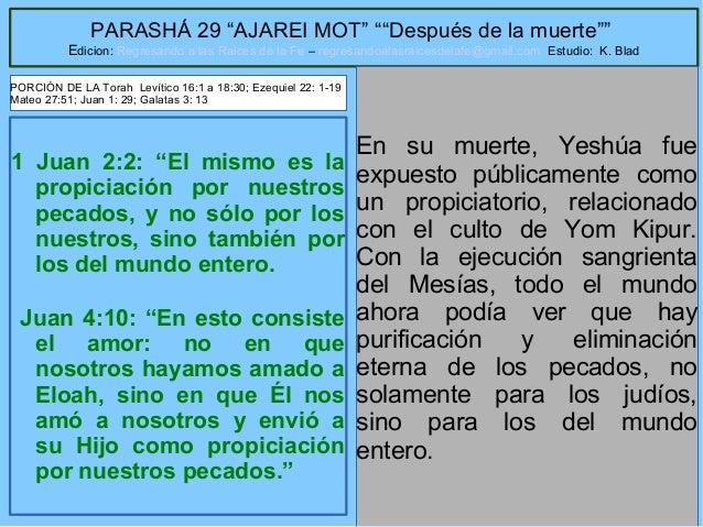 """11 PARASHÁ 29 """"AJAREI MOT"""" """"""""Después de la muerte"""""""" Edicion: Regresando a las Raices de la Fe – regresandoalasraicesdelafe..."""