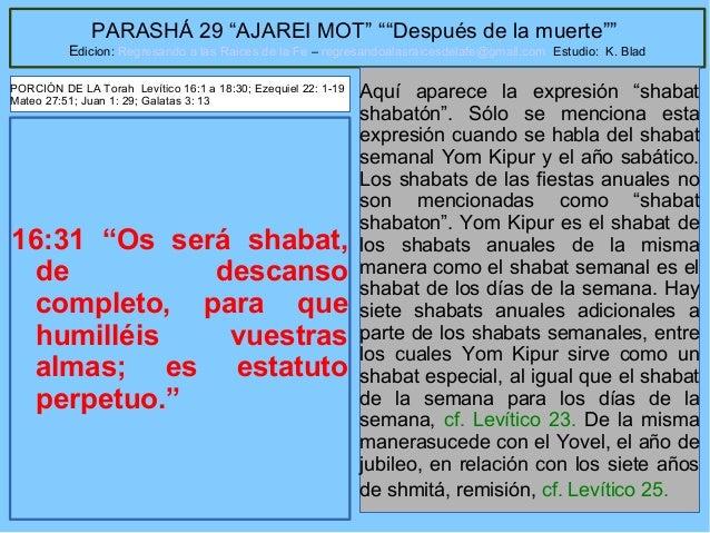 """47 PARASHÁ 29 """"AJAREI MOT"""" """"""""Después de la muerte"""""""" Edicion: Regresando a las Raices de la Fe – regresandoalasraicesdelafe..."""