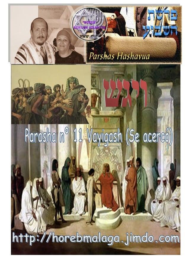 ויגש Parashá nº 11 Vayigash (Se acercó…) Mes 9º (Calendario Kodesh de YHWH) (5774 / 24 /KISLEV (07/12/2013) ¡A los llama...