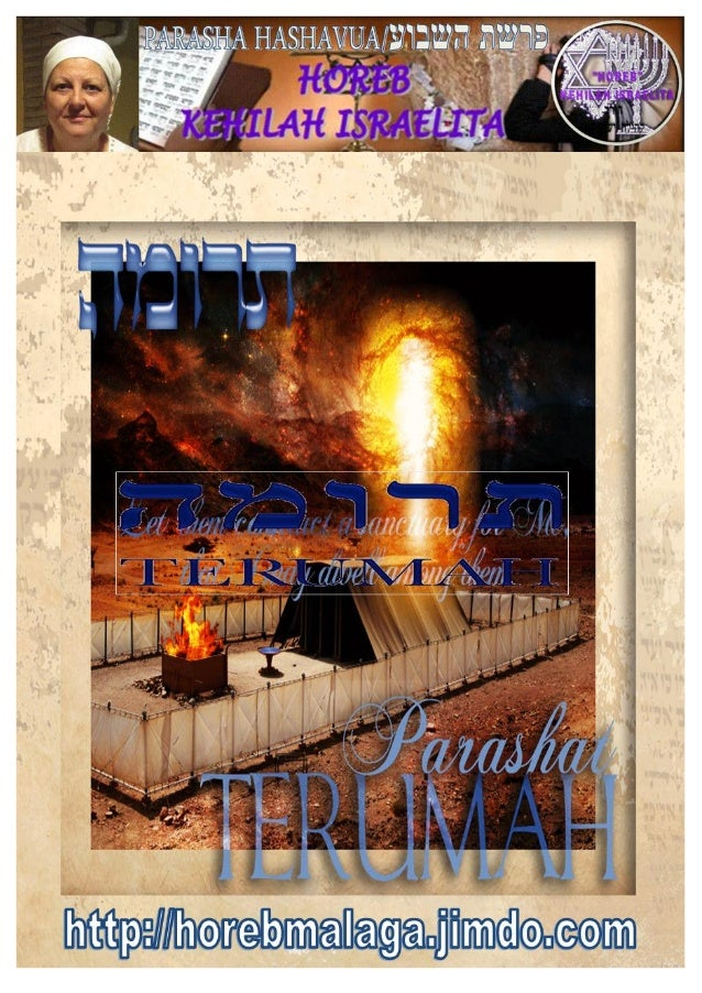 Levantando la Toráh y a Yahshua                la Toráh Viviente       תר מהParasha nº 19 Terumáh (Ofrenda alzada)  רפש...