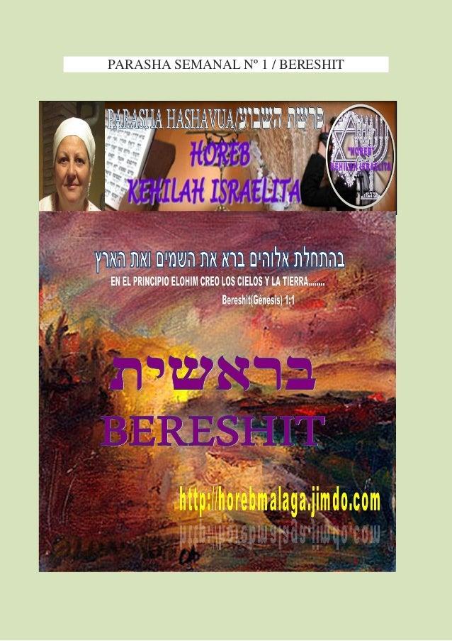PARASHA SEMANAL Nº 1 / BERESHIT