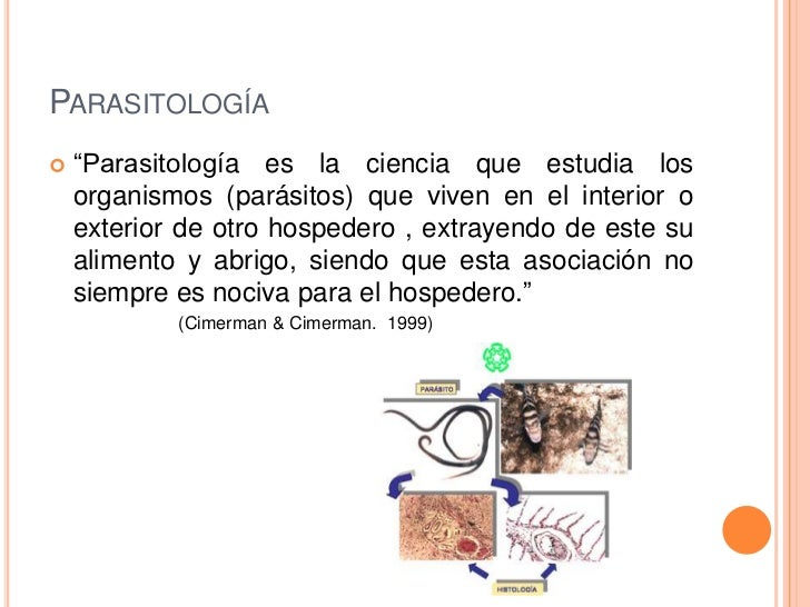 Parasitolog a for Definicion exterior