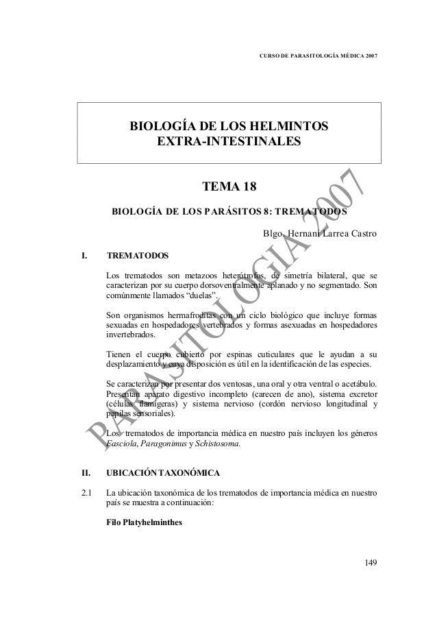 Parasitología tema 18 22-26 (tremátodos-céstodos extraintestinales-ne…