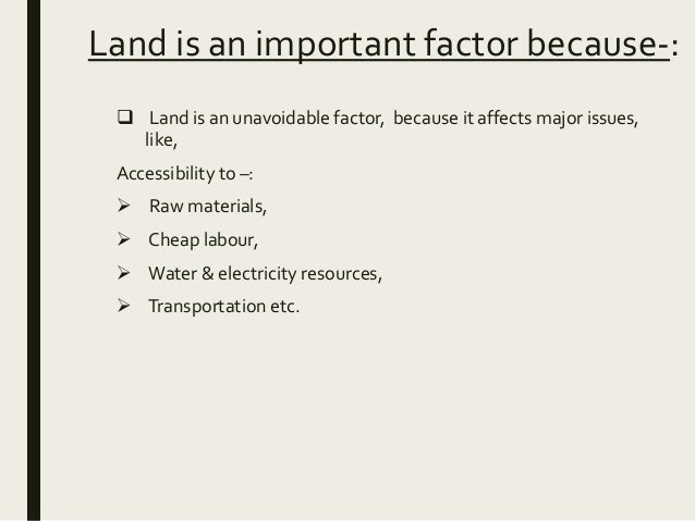 what does factors of production mean