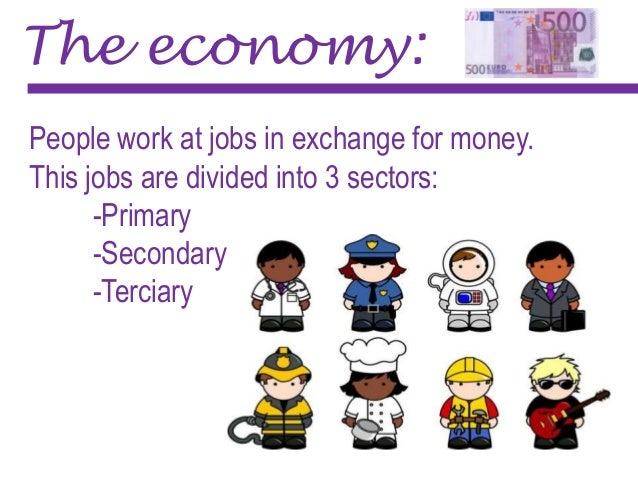 Resultado de imagen de 3 sectors of economy cartoon