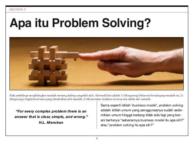 apa itu problem solving