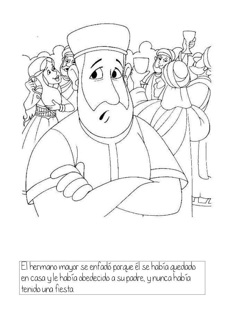 Parábola del hijo pródigo para colorear
