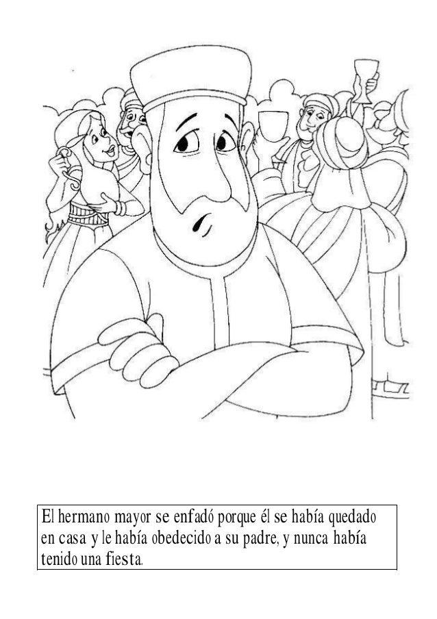 PARÁBOLA DEL HIJO PRODIGO PARA COLOREAR