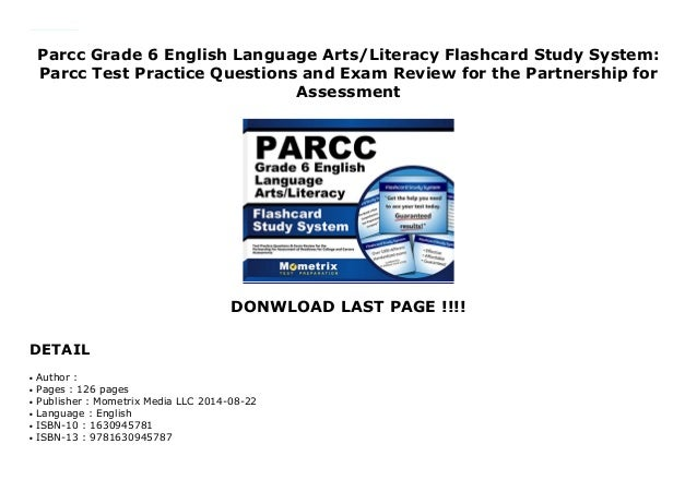 Parcc Grade 6 English Language Arts/Literacy Flashcard Study
