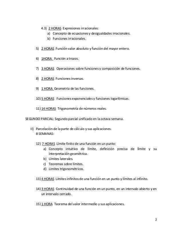 Parcelacion del programa de matematicas i (1) Slide 2