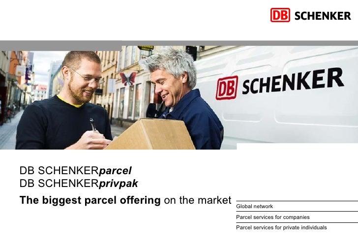 DB SCHENKER parcel DB SCHENKER privpak The biggest parcel offering  on the market