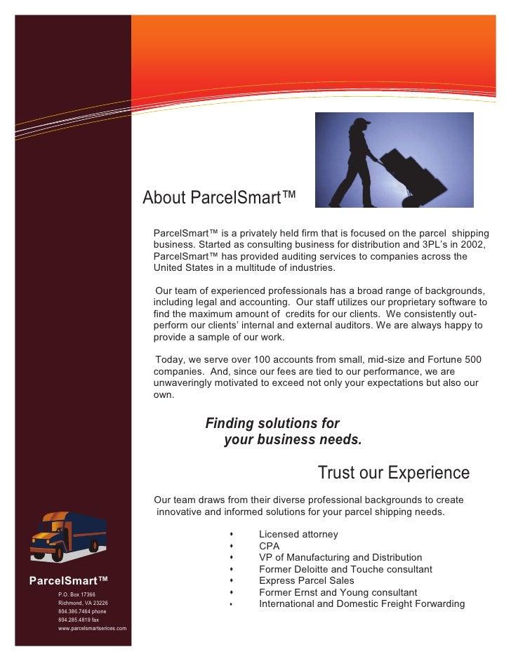 parcelsmart informational flyer