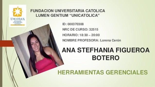 ANA STEFHANIA FIGUEROA BOTERO ID: 000370308 NRC DE CURSO: 32515 HORARIO: 18:30 – 20:00 NOMBRE PROFESORA: Lorena Cerón FUND...