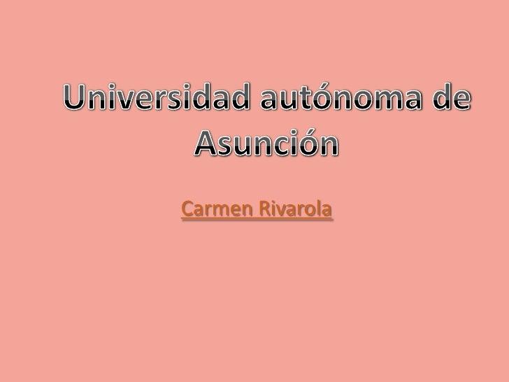 Carmen Rivarola
