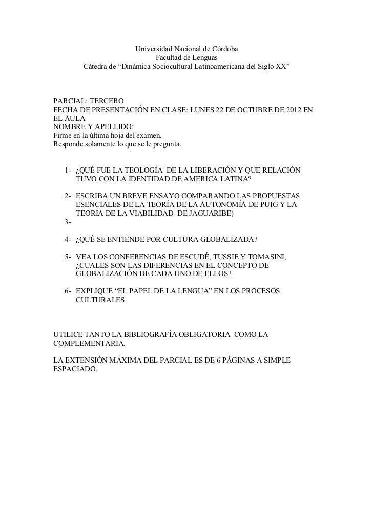"""Universidad Nacional de Córdoba                             Facultad de Lenguas       Cátedra de """"Dinámica Sociocultural L..."""