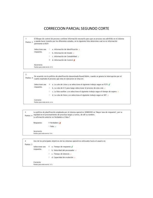 CORRECCION PARCIAL SEGUNDO CORTE