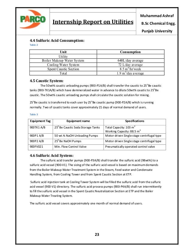 Parco internship report – Comma Splices Worksheet