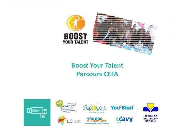 Boost Your Talent Parcours CEFA