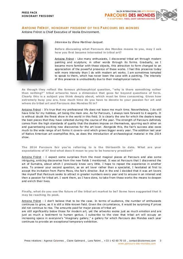 PRESS PACK  HONORARY PRESIDENT  Press relations : Agence Colonnes _ Claire Galimard _ Lara Fatimi _ +33 1 42 60 70 10 _ co...