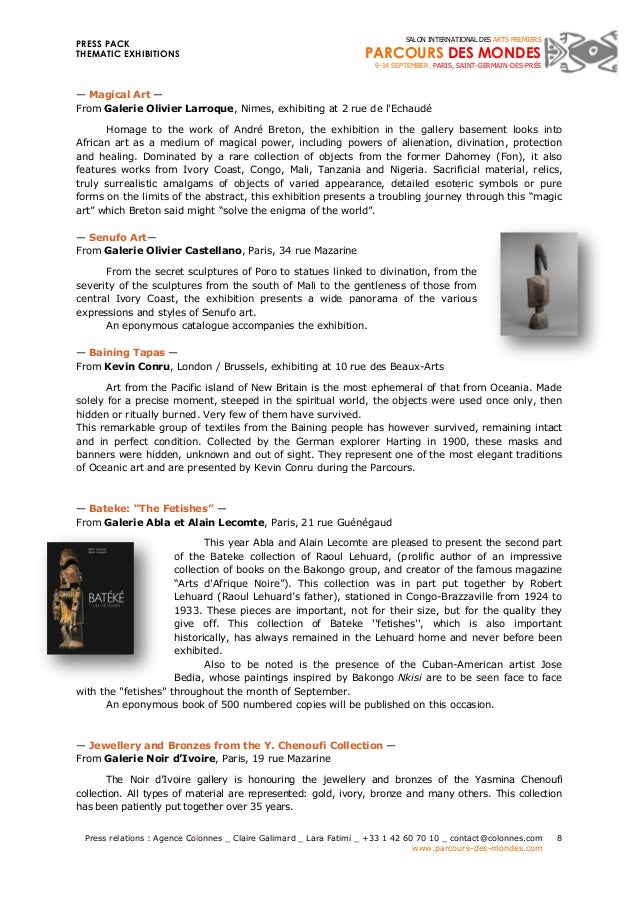 PRESS PACK  THEMATIC EXHIBITIONS  Press relations : Agence Colonnes _ Claire Galimard _ Lara Fatimi _ +33 1 42 60 70 10 _ ...