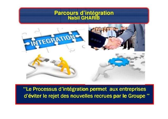Parcours d'intéééégration Nabil GHARIB ''Le Processus d'intégration''Le Processus d'intégration''Le Processus d'intégratio...