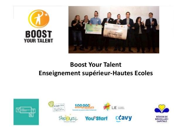 Boost Your Talent Enseignement supérieur-Hautes Ecoles