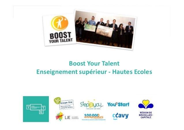 Boost Your Talent Enseignement supérieur - Hautes Ecoles
