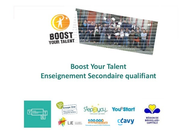 Boost Your Talent Enseignement Secondaire qualifiant