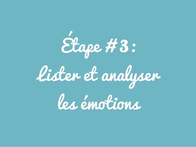 Étape # 3: Lister et analyser les émotions