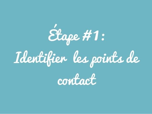Étape # 1: Identifier les points de contact