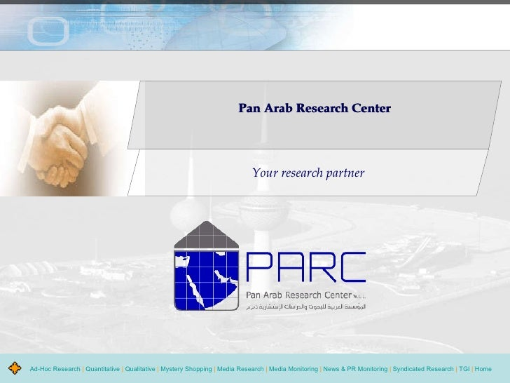 Pan Arab Research Center Your research partner