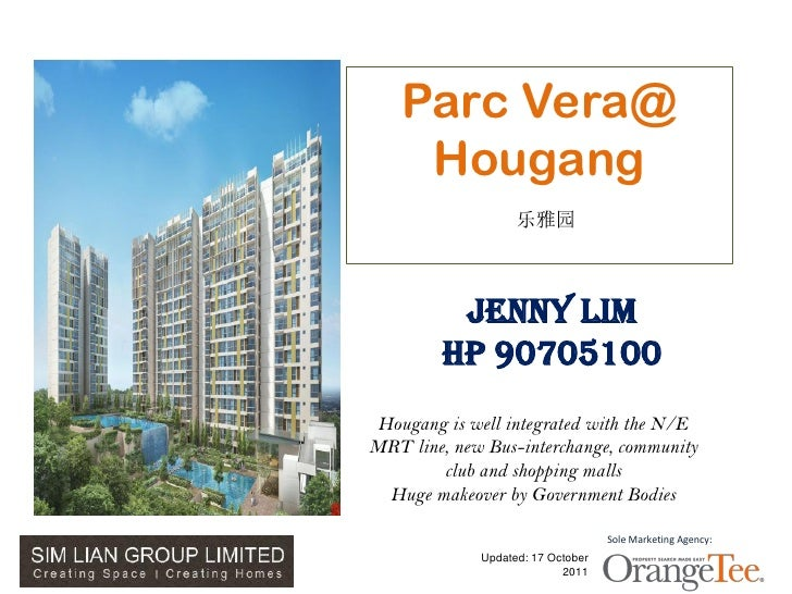 Parc Vera@                 Hougang                                乐雅园                      Jenny Lim                     H...