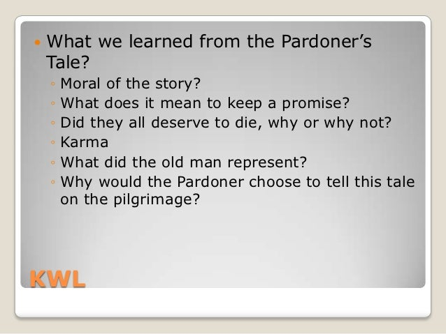 an plot overview of the pardoners tale The canterbury tales plot summary, character breakdowns, context and analysis, and performance video clips.