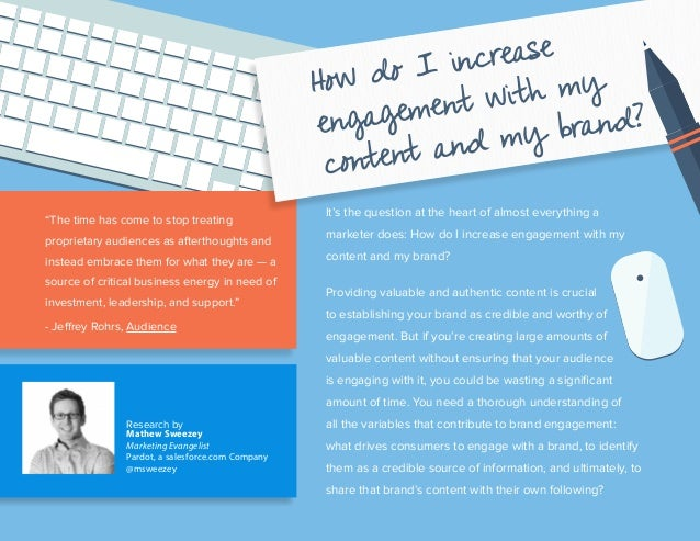 It's the question at the heart of almost everything a marketer does: How do I increase engagement with my content and my b...