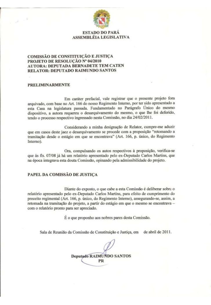 Projeto de Resolução nº 04/2010