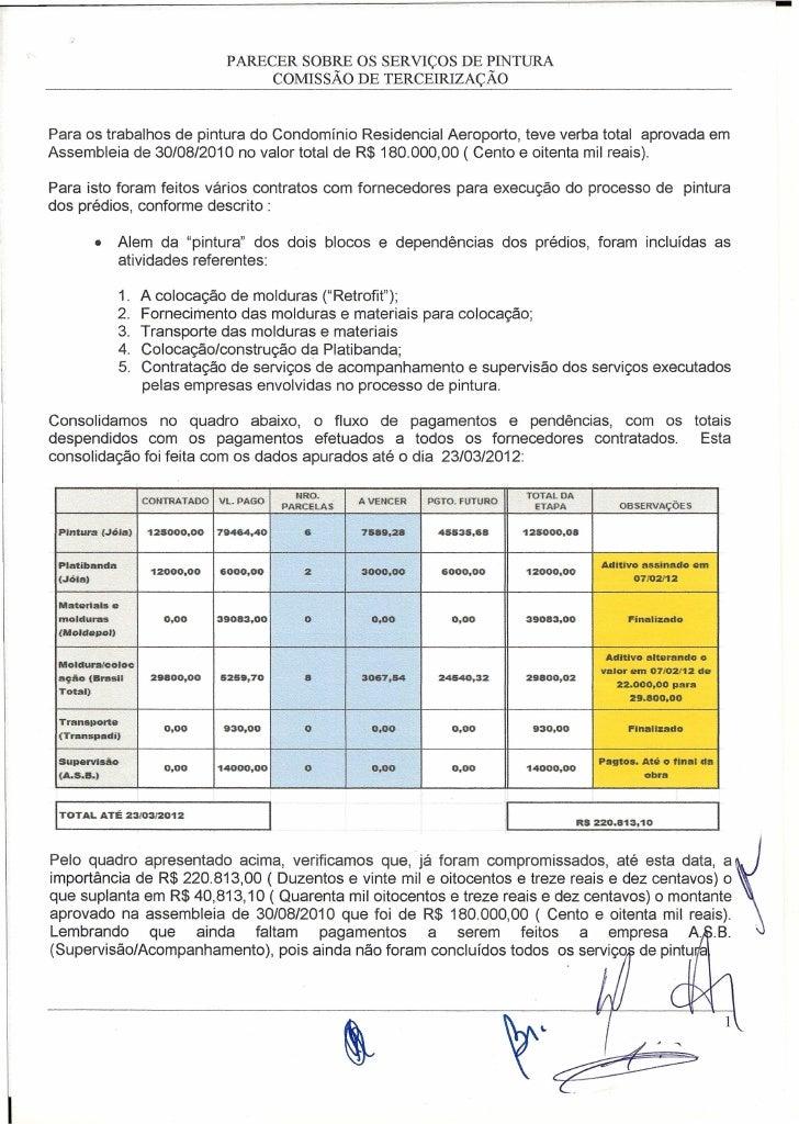 -                                        PARECER SOBRE OS SERVIÇOS DE PINTURA                                             ...