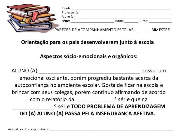 Escola: _________________________________________________________                                Professor (a): __________...