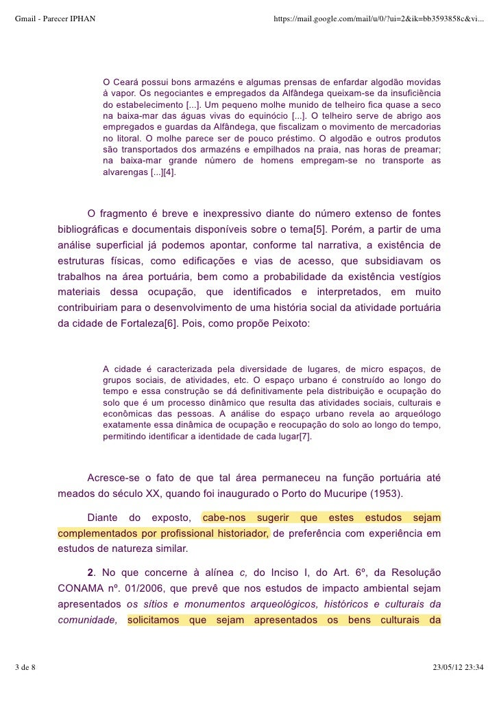 Parecer iphan após estudos do .gov.CE Slide 3