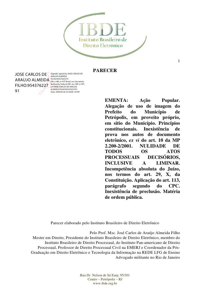1                                                           PARECER JOSE CARLOS DE Digitally signed by JOSE CARLOS DE     ...